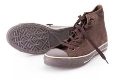 Replica of classic sneakers Royalty Free Stock Photography