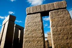Replica completa di Stonehenge fotografie stock