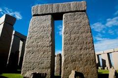 Replica completa di Stonehenge fotografia stock libera da diritti