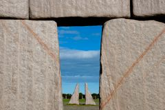 Replica completa di Stonehenge immagini stock libere da diritti