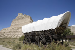 A replica of Covered wagon Royalty Free Stock Photos