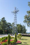 A replica of the cross of Giewont. A replica of the cross of Giewont from the Tatra Mountains placed over the Baltic sea in Pustkowo, Poland Stock Images