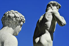 Replica of the David by Michelangelo in Florence, Italy Royalty Free Stock Photo