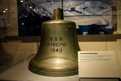 Replica of the Decommissioning Bell for the USS Intrepid Royalty Free Stock Images
