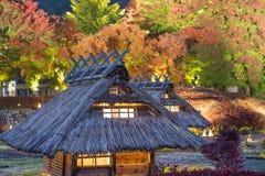 Replica del villaggio nel Giappone Fotografia Stock Libera da Diritti