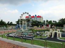 Replica dell'aletta di filatoio di Singapore, parco a tema di Legoland Miniland, Malesia Fotografia Stock Libera da Diritti