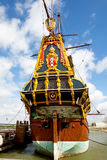 Replica della nave alta olandese Batavia Fotografie Stock Libere da Diritti