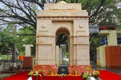 Replica di Amar Jawan Jyoti India Gate, occasionalmente della festa dell'indipendenza del 15 agosto Fotografia Stock Libera da Diritti
