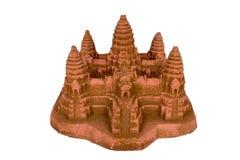 Replica di Angkor Wat con il percorso di residuo della potatura meccanica Immagini Stock