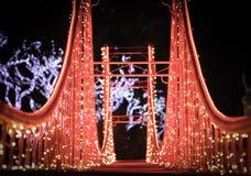 Replica di Natale di Golden Gate Fotografie Stock Libere da Diritti