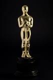 Replica dorata di Oscar Fotografia Stock Libera da Diritti
