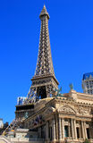 Replica of the Eiffel Tower, Paris hotel and casino, Las Vegas, Royalty Free Stock Image