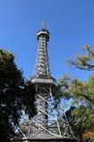 Replica of Eiffel tower in Prague in Czech republic stock images