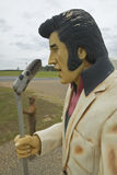 Replica of Elvis Presley singing on the road in the Southeast in GA Royalty Free Stock Images