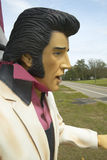 Replica of Elvis Presley singing on the road in the Southeast in GA Stock Photos