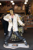 Replica of Elvis Presley singing in a souvenir store on Hollywoo Royalty Free Stock Photo