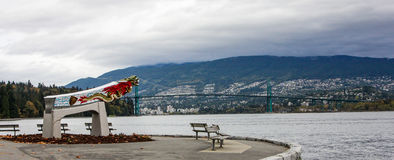 Replica of the Empress of Japan figurehead in Vancouver's Stanley Park Stock Photography