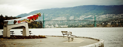 Replica of the Empress of Japan figurehead in Vancouver's Stanley Park Royalty Free Stock Photography