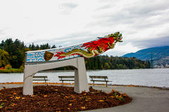 Replica of the Empress of Japan figurehead in Vancouver's Stanley Park Stock Image