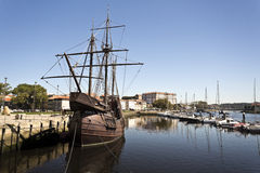 Replica of a Fifteenth Century Caravel Stock Photography