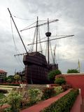 Replica of the Flora de la mar. In Maritime Museum in Melaka royalty free stock images