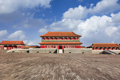 Replica of Forbidden City pavilion, Hengdian, China. Replica of Forbidden City Palace Museum pavilion, Hengdian, China royalty free stock photo