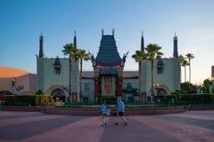 Replica of Grauman`s Chinese Theatre at Hollywood Studios . Orlando, Florida. June 06, 2019. Replica of Grauman`s Chinese Theatre at Hollywood Studios stock photography