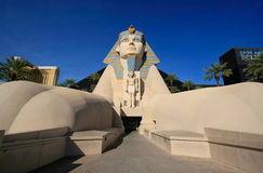 Replica of Great Sphinx of Giza, Luxor hotel and casino in Las V Stock Photos