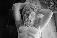 Replica of Greek Statue Black and White Royalty Free Stock Images