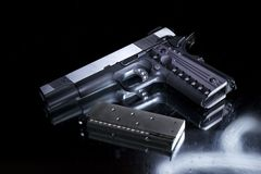 Replica gun, magazine and bullets Royalty Free Stock Image