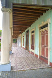 Replica of a hallway and doors. Replica of a hallway, columns and doors at a national park in the city of Guayaquil, Ecuador Stock Photography