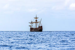 Replica het schip Santa Maria, Madera van van Christopher Columbus ' royalty-vrije stock afbeeldingen