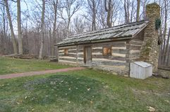 American frontier log cabin Stock Images