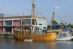 Replica of  John Cabot`s ship Matthew. M Shed, Bristol Docks Stock Photography