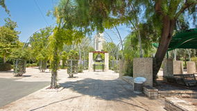Replica of the Liberty Bell in Jerusalem timelapse hyperlapse - Liberty Bell Park stock video footage