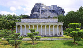 Replica of  the lincoln memorial at shenzhen window of the world Royalty Free Stock Photo