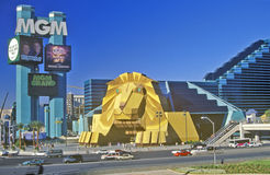Replica of lion at the Entrance of the MGM Grand Hotel, Las Vegas, NV Royalty Free Stock Image