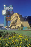 Replica of lion at the Entrance of the MGM Grand Hotel, Las Vegas, NV Stock Photography