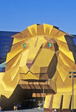 Replica of lion at the Entrance of the MGM Grand Hotel, Las Vegas, NV Stock Images