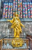 Replica of Madonna statue inside the Cathedral of Milan, Italy Stock Image