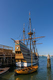 Replica of the Mayflower. In Plymouth, Massachusetts royalty free stock photos