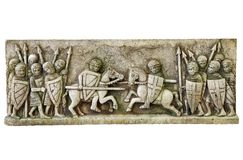 Replica of Medieval frieze Royalty Free Stock Photos