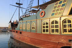 Replica of the medieval pirate warship Royalty Free Stock Images