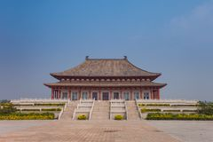 Replica Ming Dynasty Administration Hall. On top of a Datong`s Great Wall Royalty Free Stock Images