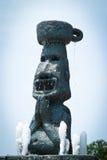 Replica Moai. Ancient stone statues called moai Stock Image