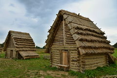 A replica of an old Slavonic village Stock Images