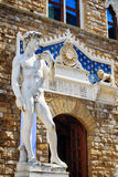 Replica of the original statue of David in Florence, Italy Stock Photos