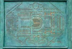 Replica of Paris opera-house plan stock photography