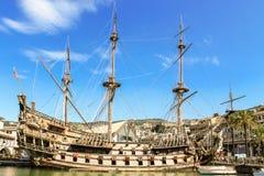 Replica pirate ship in Genoa Royalty Free Stock Image