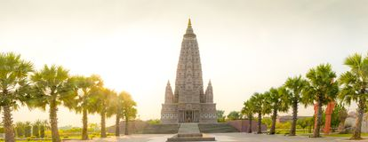 The replica place where Gautam Buddha attained enlightenment. From India is located in Stock Image